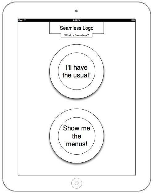 Seamless iPad wireframes