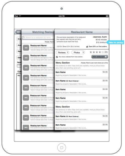 Seamless iPad wireframes