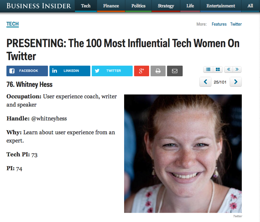 Most Influential Tech Women On Twitter - Business Insider