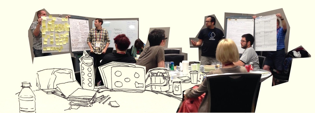 Drupal.org redesign workshop   photo collage by attendee Roy Scholten